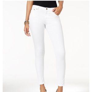 Michael Kors Selma Skinny Jeans - White - Size 16